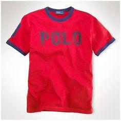 Cheap Mens New Ralph Lauren Short Sleeved Polo Red Cheap Ralph Lauren Polo,  Polo Ralph d6f3932f758