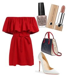 """Untitled #67"" by cosmoelan on Polyvore featuring Christian Louboutin, Gucci, Marc Jacobs, OPI, redwhiteandblue and july4th"