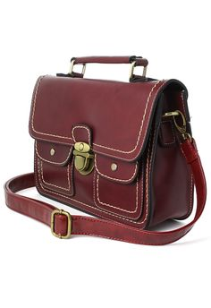Wine Old School Satchel Bag - New Arrivals - Retro, Indie and Unique Fashion
