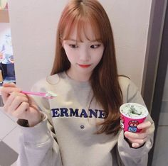 """[IZ*ONE IG] 180923 """"Together with Mint Chocolate even during the holidays! 🍦🍦 Everyone too, spend an emjoyable Chuseok together with Mint Chocolate💕"""" Japanese Girl Group, T Shirts For Women, Instagram, Kpop, Produce 101, Mint Chocolate, Nayeon, Bias Wrecker, Pretty Girls"""