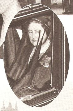 The Queen Mother, on her way to the funeral of her husband George VI.