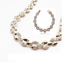 2016 New 18K pozlátené drahokamu rakúsky Crystal kvetina ženy svadba šperky sady módne CS14 Veľkoobchod (Čína (pevninská časť))