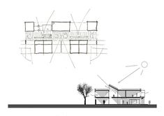 Early Excellence Centre Munich,Sketch & Section