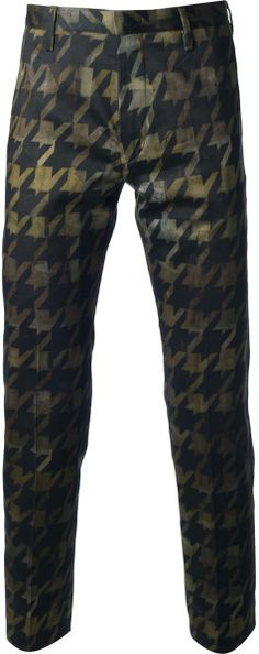 Paul Smith Black Houndstooth Print Trouser  Awesome!