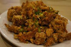 #yyc Banana Leaf Tropical Cuisine: Deep Fried Crispy Chicken Nuggets with Garlic and Green Onion http://gotellyourmom.wordpress.com/