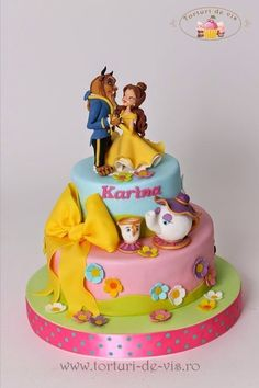 Image result for BEAUTY AND THE BEAST CAKES