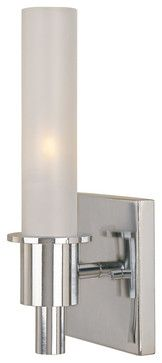 World Imports 7821-08 Luray Chrome Wall Sconce midcentury-wall-lighting