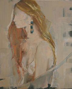 "Saatchi Art Artist: Fanny Nushka Moreaux; Oil 2014 Painting ""Turquoise II, 2014"" #art (CJ)"