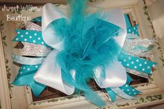Hey, I found this really awesome Etsy listing at https://www.etsy.com/listing/170248818/turquoise-ott-feather-bow