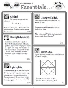 Math Essentials.  A group of activities per week.  Awesome! This site is really good.