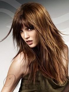 Fashionable Layered Natural Long Straight 18 Inches Wig