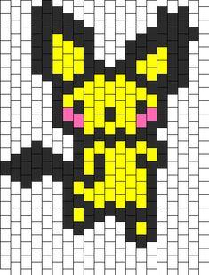 Small spikey Eared Pichu bead pattern