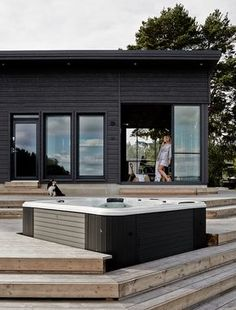 A House in the Nature – in Finland – A Frame for Life Cottage Design, House Design, Sauna House, Beach Cottages, Black House, Future House, Building A House, Architecture Design, House Ideas