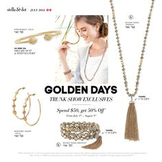 July is a golden month for Stella&Dot Trunk Show Exclusives! Get yours here: http://www.stelladot.com/ts/99986