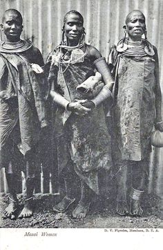 "Africa | ""Masai Women"". Early 20th century 