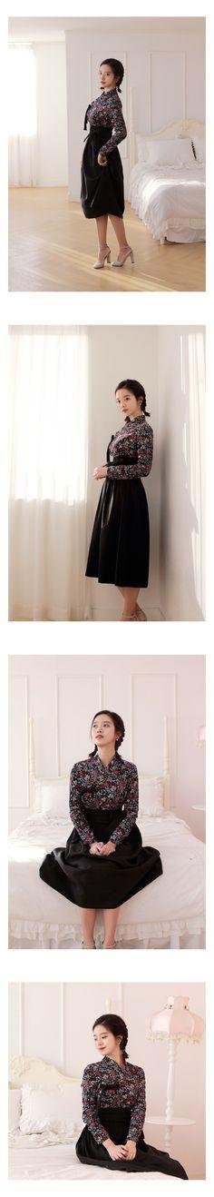 쿠팡! | 선데이한복 겨울 모직 블랙 롱치마
