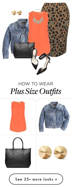 """plus size spring office chic"" by kristie-payne on Polyvore featuring J.Crew, Studio, Steffen Schraut, 3.1 Phillip Lim, Kate Spade and Eddie Borgo"