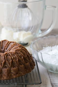 Hummingbird Bundt Cake with Cream Cheese Glaze ~ this one bowl recipe makes the Southern classic cake so much easier but every bit as delicious. Desserts To Make, Food To Make, Delicious Desserts, Cream Cheese Glaze, Cake With Cream Cheese, Pie Dessert, Dessert Recipes, Hummingbird Cake Recipes, Cupcake Cakes