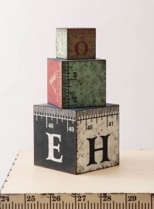 Ruler cubes for back to school display #merchandising Ruler Collection | Visual Merchandising and Store Design