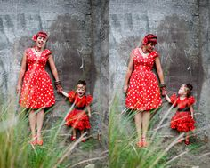"""Seriously adorable """"Mommy & Me"""" photo shoot...and that mama's got some style!"""