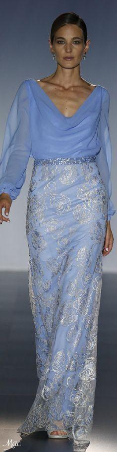 Cabotine by Gema Nicolás ~ Sky Blue and Silver Bridal Gown 2016