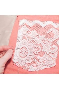 diy lace pocket shorts by jeanette