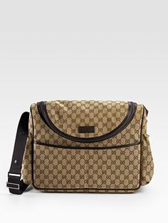"""Gucci diaper bag...the only way to say """"thank you"""" for giving birth."""