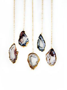 AGATE geode druzy necklace