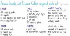 Elanor Calder and Ariana Grande inspired workout