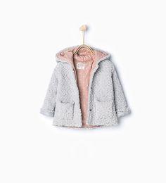 ZARA - KIDS - Knitted three quarter length coat with hood