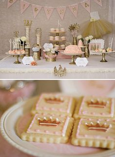 adorable Once Upon a Time 2nd Birthday for a girlfriend's daughter. She didn't want the party to focus on one princess, but instead focus on the magical feel of being a princess. I put vintage touch to the party by using silver and gold glitter wherever I could. The lace and the rose cake made the party feel soft sweet and oh so girly!