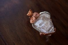 Brilliant Quartz Pendant by TerraArcana on Etsy Wire Wrapping, Quartz, Crystals, Pendant, Trending Outfits, Unique Jewelry, Handmade Gifts, Etsy, Vintage