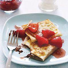 Nutella and Strawberry Crepes   MyRecipes.com