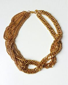 The Gold Twist Chain Necklace by JewelMint.com, $108.00