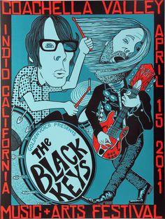 The Black Keys concert posters  - 42