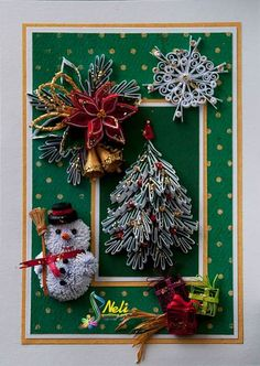 Card Neli Quilling Quilling Cards Quilling Christmas Christmas Cards Origami Noel