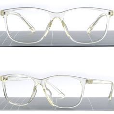 ecb27370fc3 Light Square Translucent Clear Plastic Frame Transparent Men s Womens RX  Glasses  Unbranded Transparent Glasses Frames