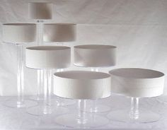 7 Tier Clear Cascade Wedding Cake Stand