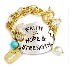 Faith Hope & Strength Bracelet [10084771] - $18.00