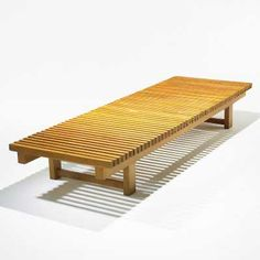 Charlotte Perriand; Ash Bench for Etienne Sicard, 1941.