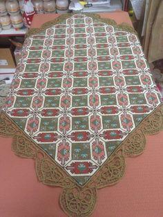 Gallery.ru / Фото #56 - 2017 / 1 - ergoxeiro Crochet Tablecloth, Rugs, Cross Stitches, Fabrics, Decor, Lace, Crochet Carpet, Punto De Cruz, Dots