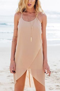 Wrap Front Sleeveless Tulle Mini Dress - US$13.95 -YOINS