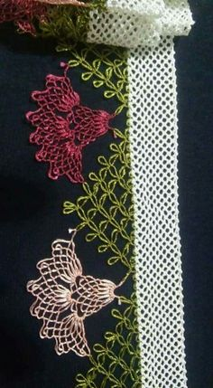 En Şık İğne Oyası ve Dantel Çeyizlik Havlu Kenarı Modelleri - Filet Crochet, Knit Crochet, Video Pink, Sunflower Tattoo Design, Needle Lace, Lace Making, Ribbon Embroidery, Sewing Hacks, Baby Knitting