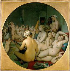 Jean-Auguste-Dominique Ingres (1780-1867) Het Turkse Bas (1862) Olie op doek 110 cm - Het Louvre