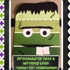 Students will love learning about procedural writing using a Halloween theme. Students will explore the text structure of procedural text by lookin...