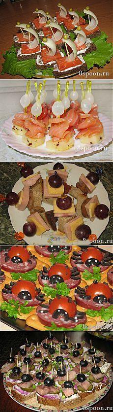 Канапе: рецепты с фото для фуршета | 8 Ложек