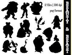 Beauty & the Beast Silhouettes // Disney by SparkYourCreativity, $6.00