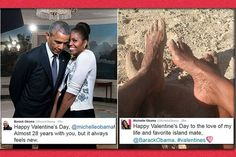 #BarackObama & #MichelleObama Share Touching Valentines Tweets.