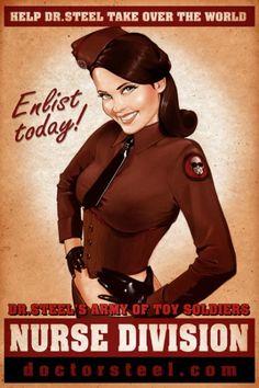 """Cartel de propaganda de """"The Army of Toy Soldiers"""" de Doctor Steel."""