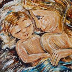 One of my top favorites of Katie's Art! I own this one!  Co-Sleeping Mother & Child Inspiring Art Prints shop.kmberggren.com